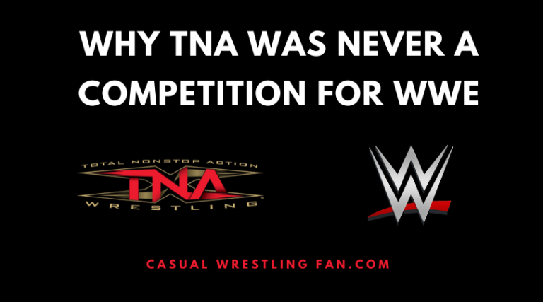why tna was never a competition for wwe